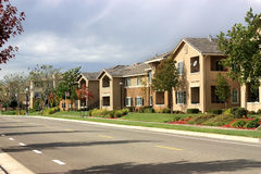 Modern apartment complex Stock Images