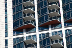 Modern Apartment Condo Building Patios Stock Photography