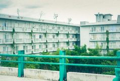 Modern apartment courtyard
