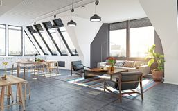 Modern apartment design Royalty Free Stock Images
