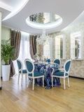 Modern apartment dinning room royalty free stock photography