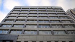 Modern apartment establishing shot at sunset. Rental concept. stock footage
