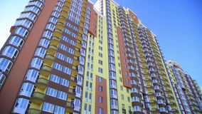Modern apartment establishing shot at sunset. Rental concept. stock video footage