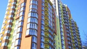 Modern apartment establishing shot at sunset. Rental concept. stock video