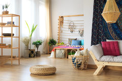 Modern apartment in ethnic style Royalty Free Stock Image