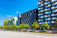 Modern Apartment Flats in Orestad District of Copenhagen Denmark royalty free stock photography