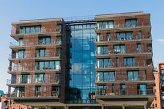 Modern apartment house in Hamburg Royalty Free Stock Photo