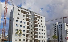 Modern apartment houses ready for settlement . Contemporary urba Royalty Free Stock Image