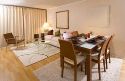 Modern apartment interior stock image