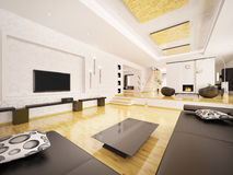 Modern apartment interior 3d render Stock Images