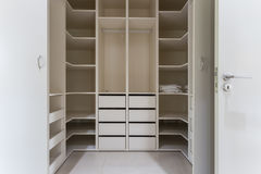 Modern apartment interior with huge wardrobe Stock Photo