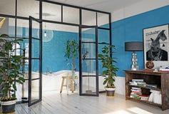 Modern apartment interior. Royalty Free Stock Photos