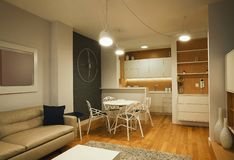 Modern Apartment Interior royalty free stock images