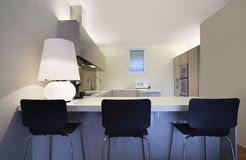 Modern apartment interior view Royalty Free Stock Image