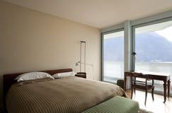 Modern apartment interior view. Bedroom Stock Photo