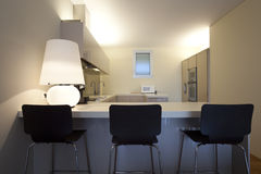 Modern apartment interior view Stock Photography
