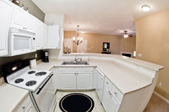 Modern Apartment Kitchen Stock Photography