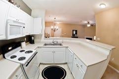 Modern Apartment Kitchen Stock Photography