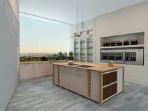 Modern apartment kitchen interior Stock Photos