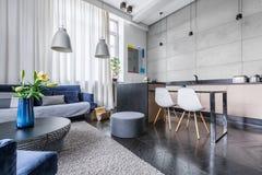 Modern apartment with kitchen stock photo