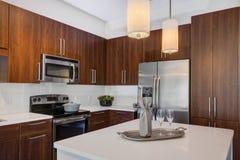 Modern Apartment Kitchen Stock Photos