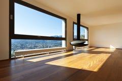 Modern apartment, large living room Stock Photo