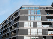 Modern Apartment with Large Windows and Balconies Royalty Free Stock Photography