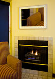 Modern Apartment Living Room Fireplace Royalty Free Stock Photos