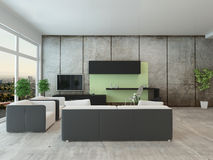 Modern apartment living room interior Royalty Free Stock Image