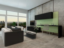 Modern apartment living room interior Stock Photography