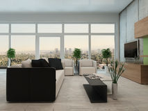 Modern apartment living room interior Royalty Free Stock Photo