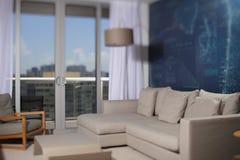 Modern apartment living room tilt shift blur Stock Image