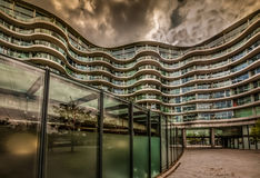 Modern apartment. New, modern executive apartment building in Battersea area in London Stock Photography