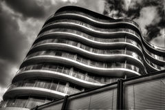 Modern apartment. New, modern executive apartment building in Battersea area in London Stock Photo