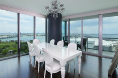 Modern apartment with a view Royalty Free Stock Image