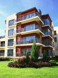 Modern apartments. Just build new modern apartments Royalty Free Stock Photos