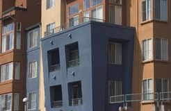 Modern Apartments 2. A group of modern urban apartments royalty free stock image