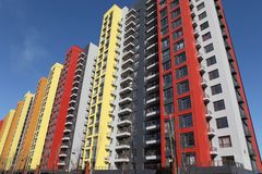 Modern Apartments. A group of modern urban apartments Stock Image
