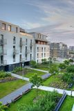 Modern Apartments. New modern style apartments built in Warsaw, Poland, Europe Stock Photo