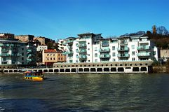 Modern apartments. Modern newly built apartments in Bristol Uk with the view of the avon river Stock Photography