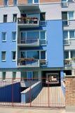 Modern apartments. Modern neighborhood on a sunny day Royalty Free Stock Photos
