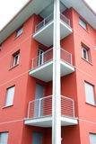 Modern apartments. A modern apartments building viewed from an angle Royalty Free Stock Photography