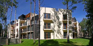Modern apartments. Just built modern apartments in Jurmala, Latvia Stock Images