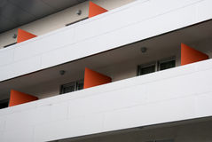 Modern apartments. A modern apartments building viewed from an angle Stock Images