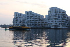 Modern apartments. Modern apartment buildings in the center of Copenhagen Royalty Free Stock Photo