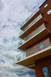 Modern apartments with balcony Royalty Free Stock Photography