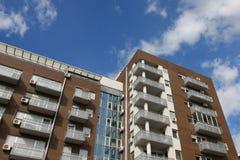 Modern apartments block. Just built modern apartments block Royalty Free Stock Image