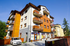 A modern apartments building in Zakopane Royalty Free Stock Images