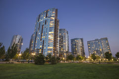 Modern Apartments in a city urban area in early night Stock Photography
