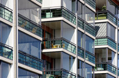Modern apartments close up Royalty Free Stock Images